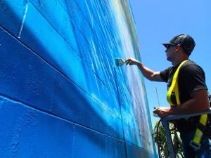 Details Mural 03 Hilton 300x225 Hilton Alves Paints 3rd Perfect Wave Mural of 101