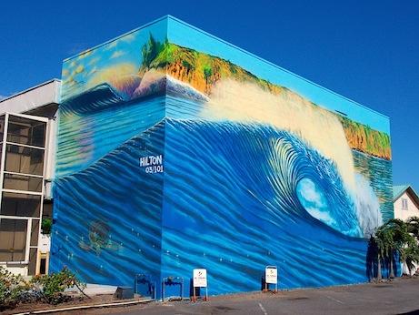 Mural 03 101 Maui Hilton Alves Hilton Alves Paints 3rd Perfect Wave Mural of 101